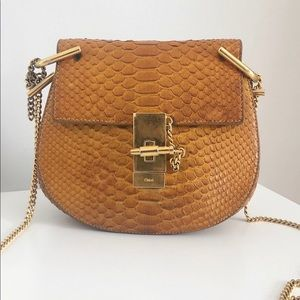 Chloe Drew Python Shoulder Bag